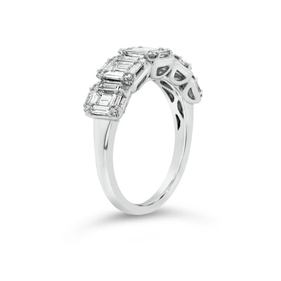 Diamond Baguettes Wedding Band