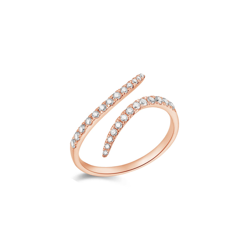 Petite Diamond Swirl Fashion Ring