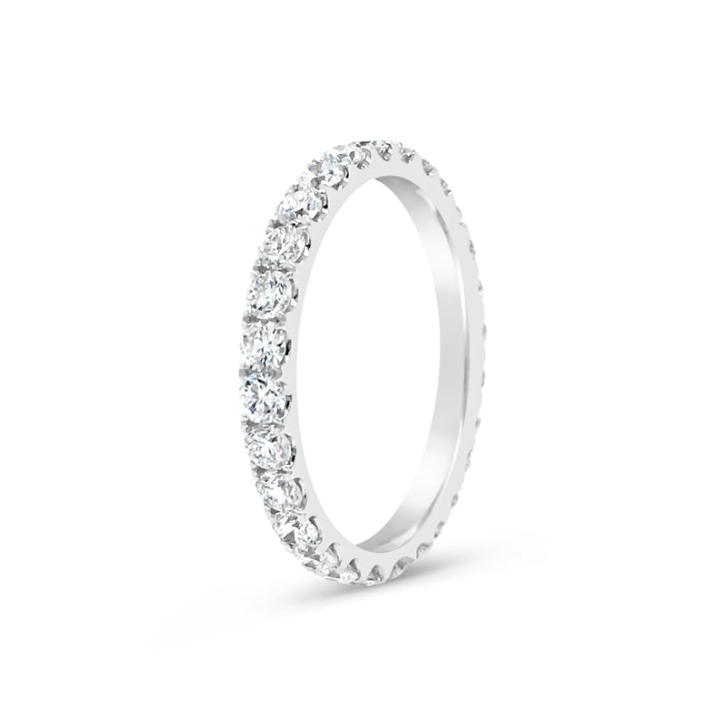 Simple Four Prong-Set Diamond Band
