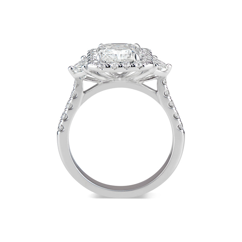 Elongated Radiant-Cut Diamond Engagement Ring