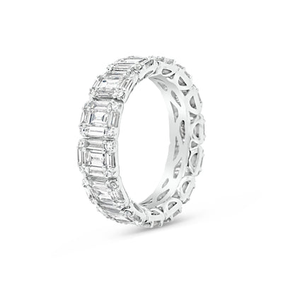 Illusion set Baguette & Round Eternity Ring
