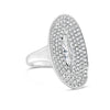 Diamond Marquis Oval Ring