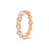 Alternating Round & Baguette Diamond Eternity Band with Milgrain