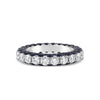 Sapphire Gemstone & Diamond Eternity Wedding Band