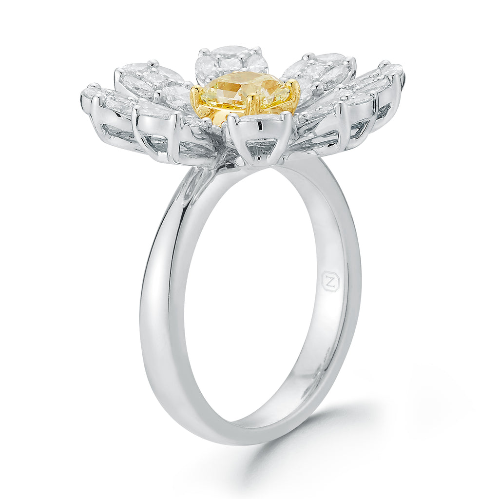 Blossoming Diamond Flower Ring Nuha Jewelers