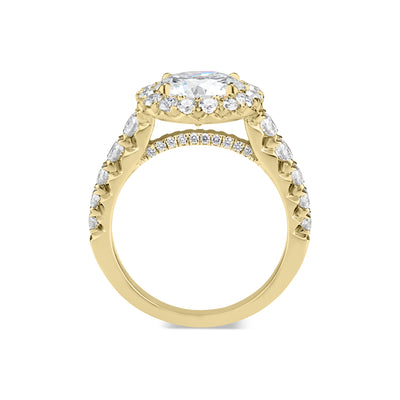 Round Diamond Halo Engagement Ring