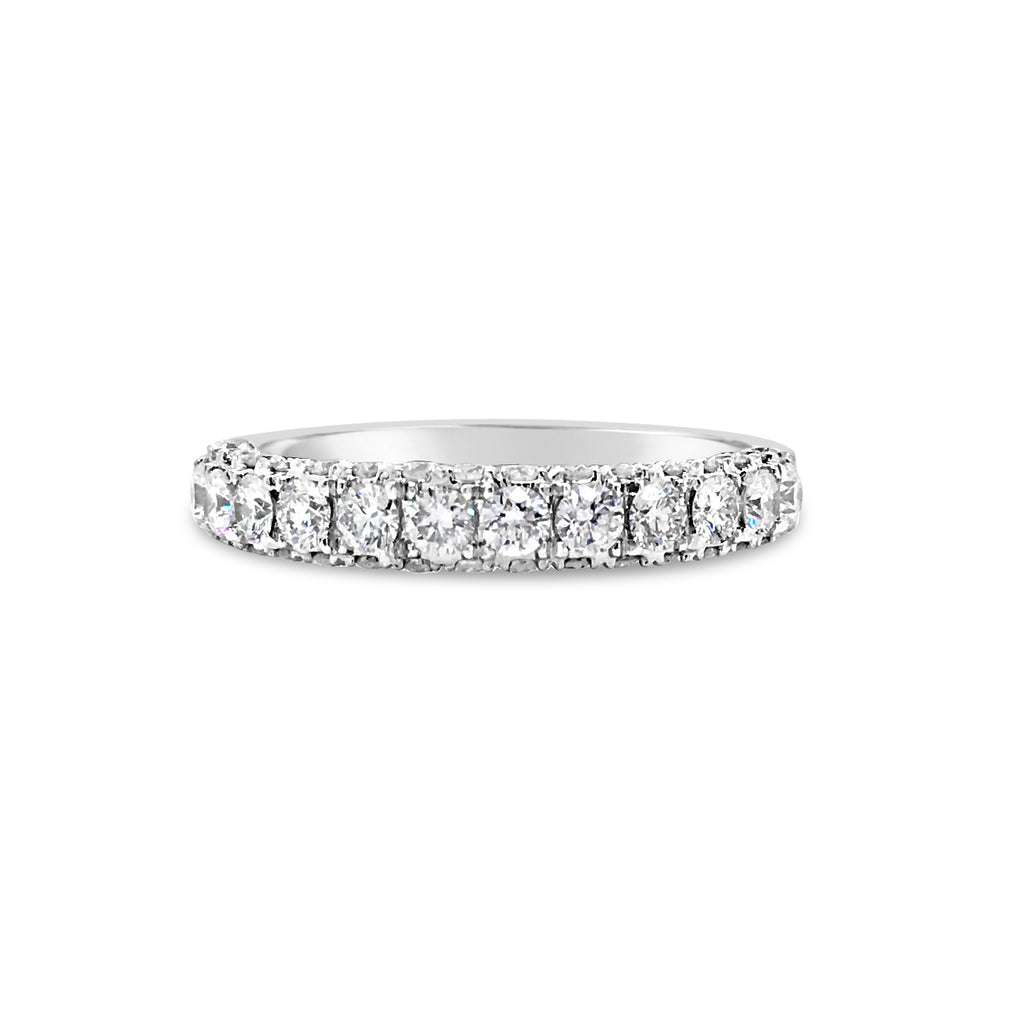 Single Row Diamond Four Prong-Set Diamond Wedding Band
