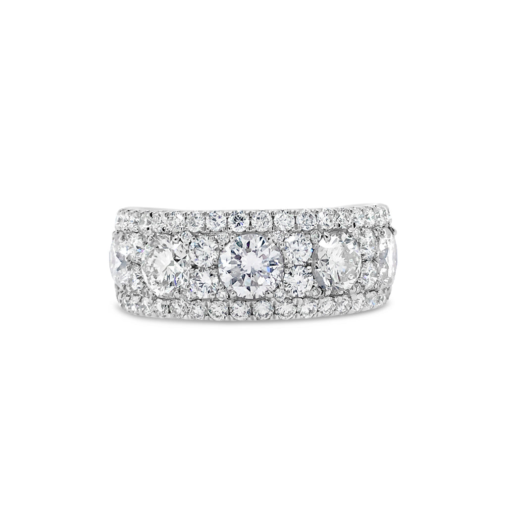 Diamond Cluster Band Ring