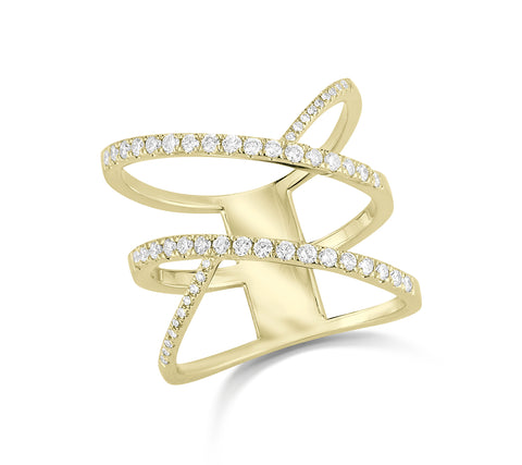 Crossover Diamond Fashion Ring