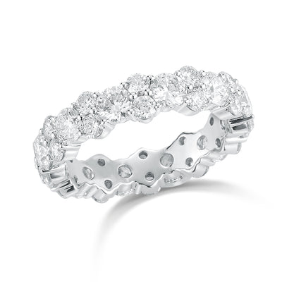 Cluster diamond eternity band