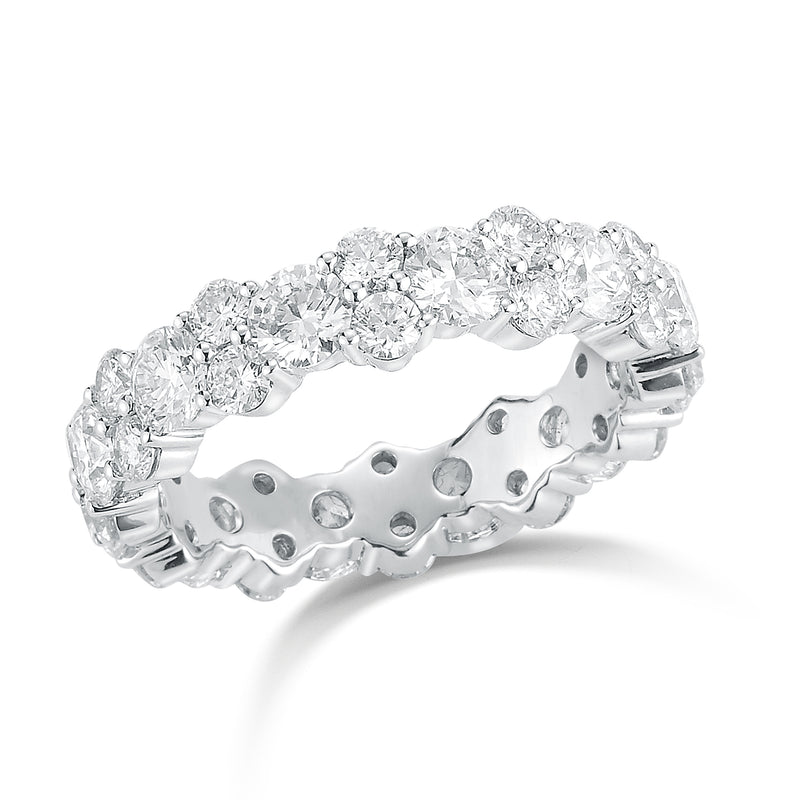 Staggered Diamond Eternity Band