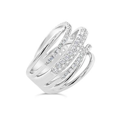 Diamond & Gold Strand Fashion Ring