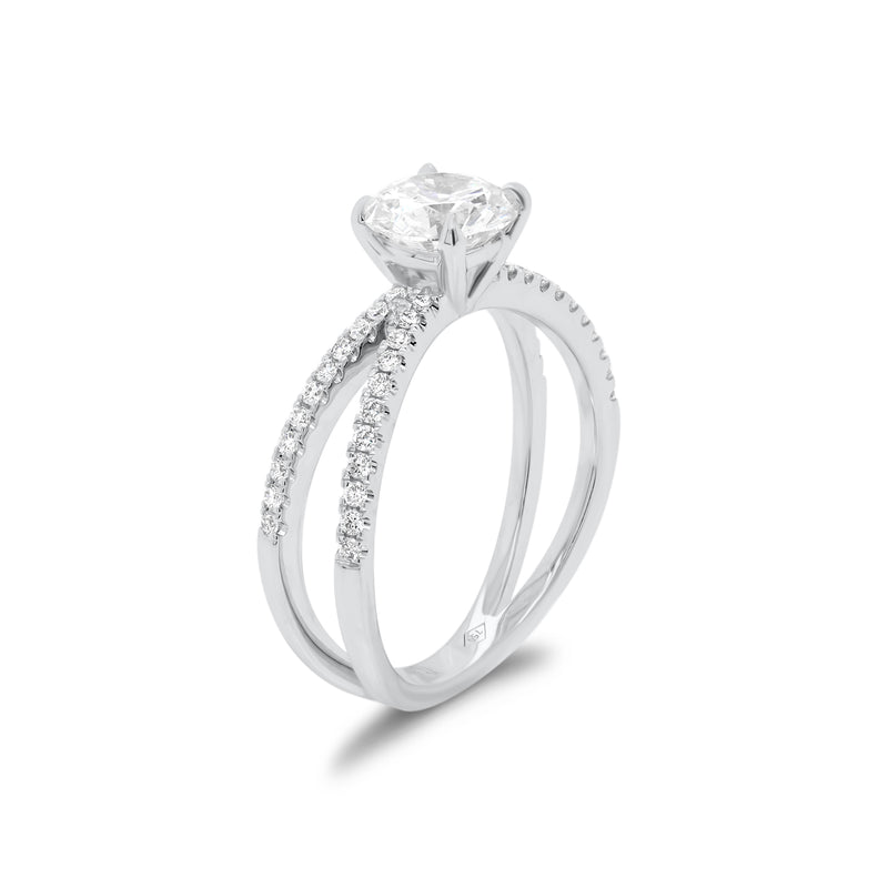Round Diamond Engagement Ring with Open Shank