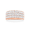 Diamond Triple Row Wedding Band