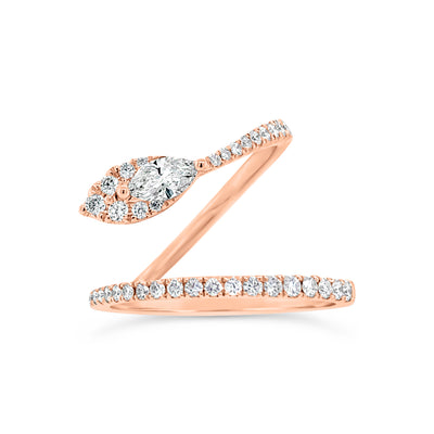 Diamond Snake Band with Marquise