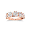 Diamond Cushion Wedding Band