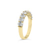 Diamond Ovals Wedding Band