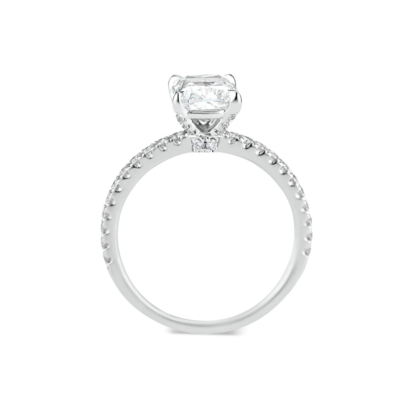 Prong-Set Cushion Diamond Engagement Ring