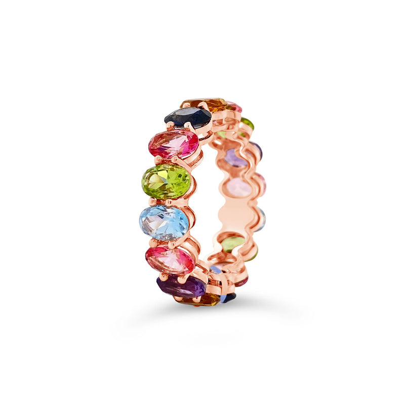 Multicolor Gemstone Eternity Ring