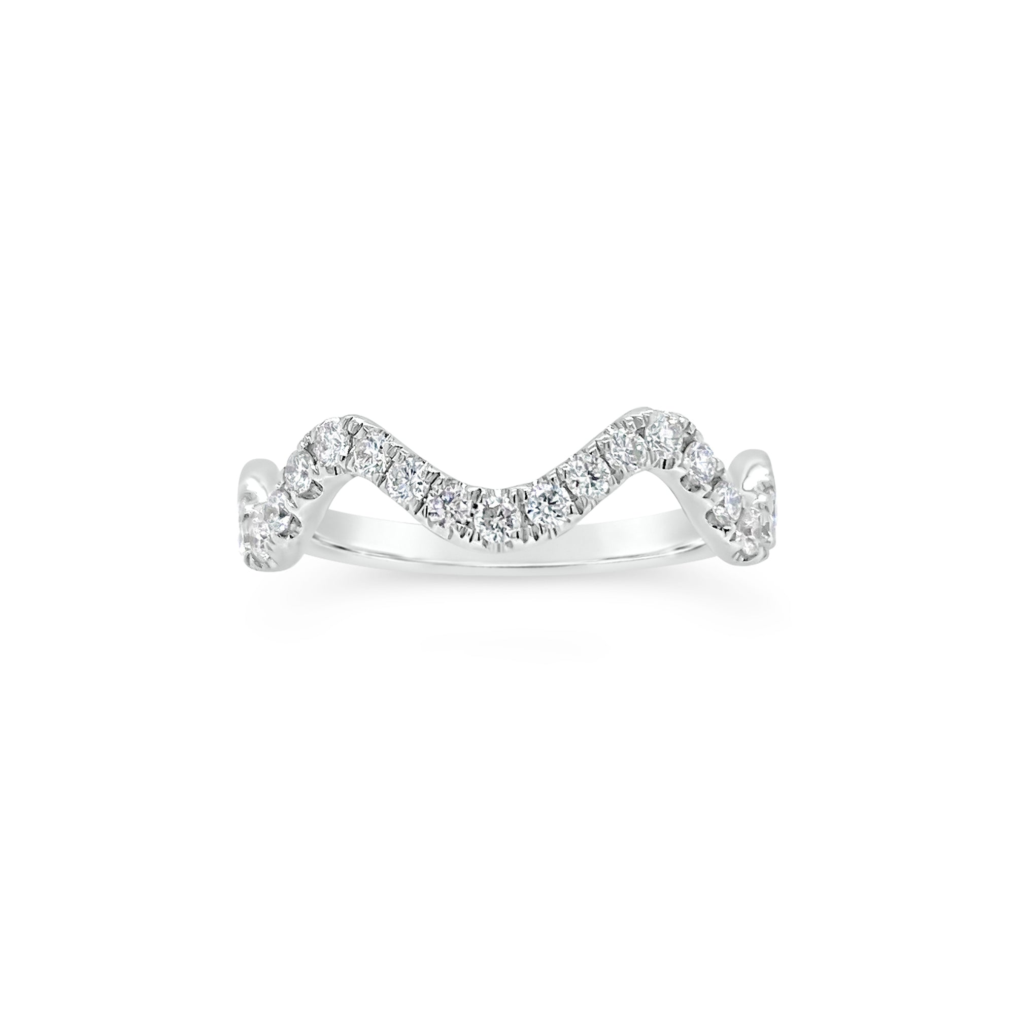 Diamond Stackable Wavy Ring