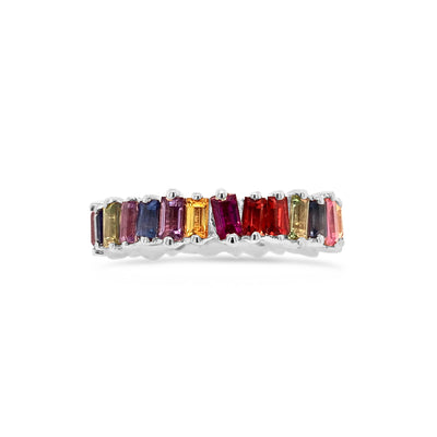 Rainbow Baguette Eternity Ring