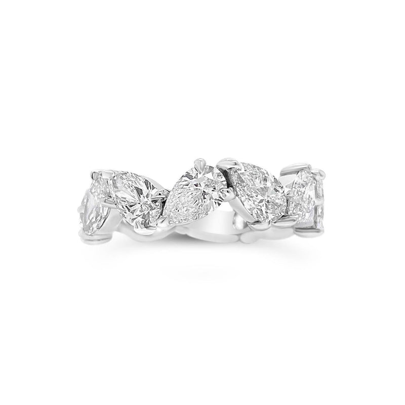 Pear-Shaped Diamond Eternity Band