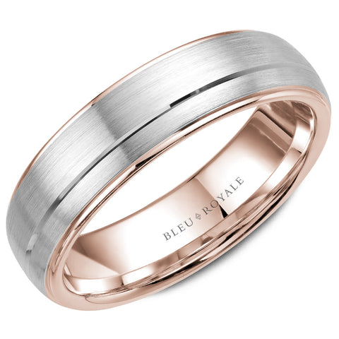Sandpaper center & High Polished Edge Men's Wedding Band