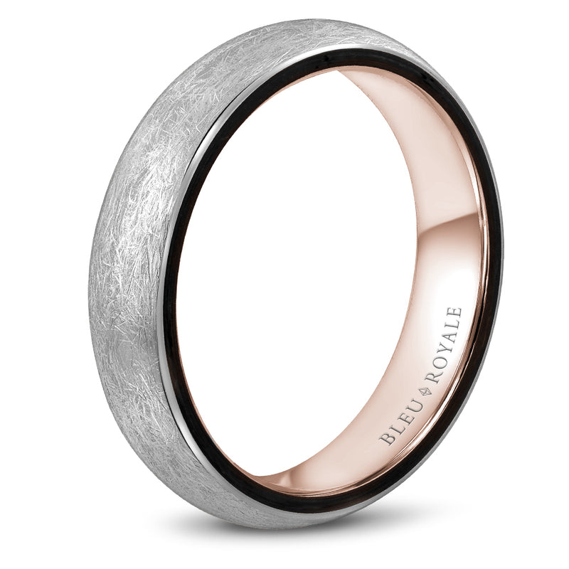 Diamond Brush top Men's Wedding Band