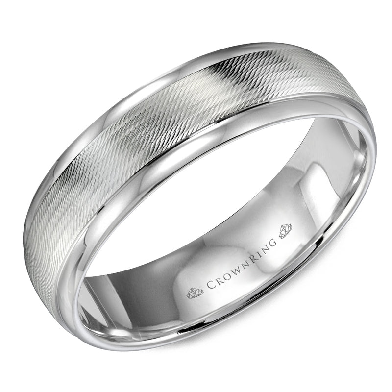 All High Polish Men's Wedding Band