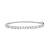 Diamond Zig-Zag Bangle Bracelet