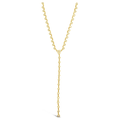 Bezel-Set Diamond Lariat Necklace