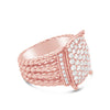 Twisted Cable Diamond Ring
