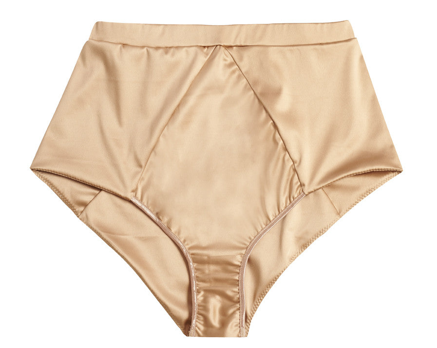 Blush Satin High Waist Knickers