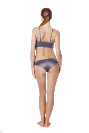 Graphite Satin Knickers