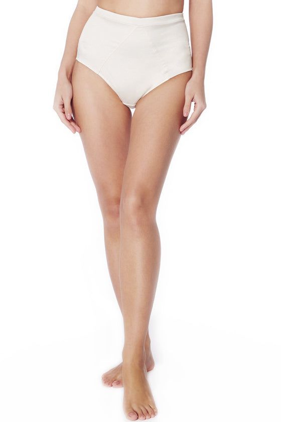 Pearl Satin High Waist Knickers