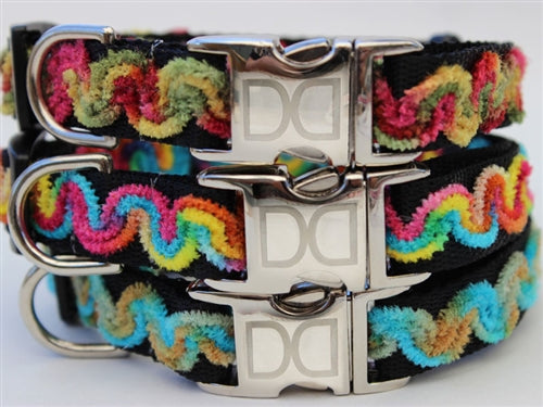 Waves Carnivale Dog Collar - All Metal Buckles