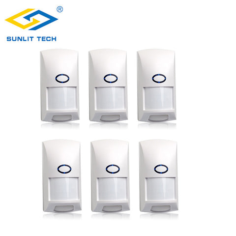 6pcs 433Mhz PIR Sensor Anti-pet Immunity Wireless Infrared Motion Sensor Detector For Home Security Alarm System Alarm Kit
