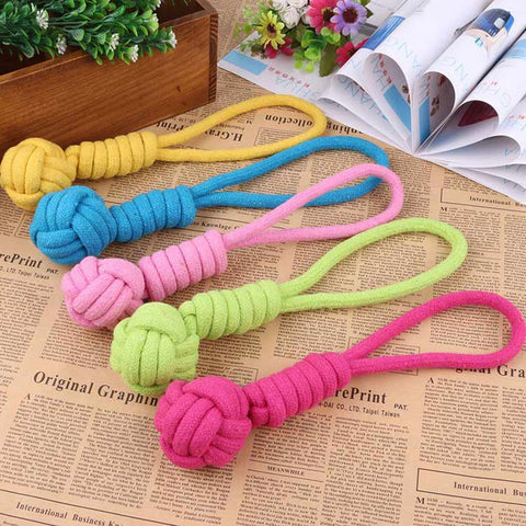1pcs New Pets Rope Ball Toys Bite Ball Dog Cotton Braided Bone Interactive Toys Teeth Clean Ball Pet Puppy Chew Toys Mascotas