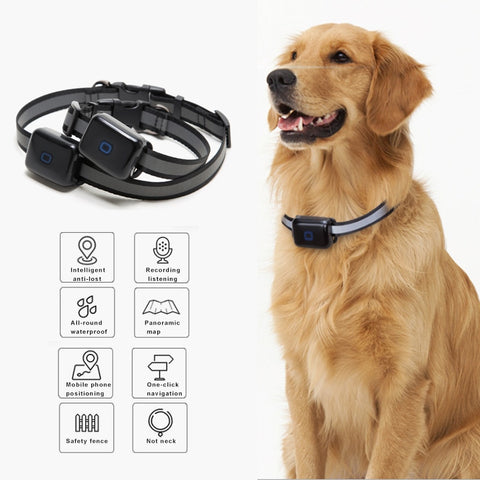 Best Pet GPS Locator Waterproof Anti-lost Real-time Tracking Postioning Collar for Dog Cats Hogard AP16