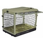 Deluxe Steel Dog Crate with Bolster Pad - Medium