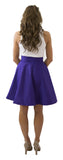 Sydney Skirt- Plum- Poly Satin Unlined