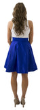 Sydney Skirt- Royal Blue- Poly Satin Lined