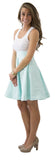 Sydney Skirt- Robins Egg- Cotton Pique Lined