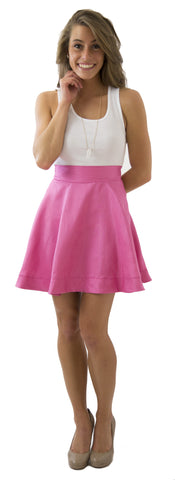 Sydney Skirt- Rose Passion- Poly Shantung Unlined