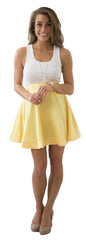 Sydney Skirt- Sunny Jasmine- Poly Satin Unlined