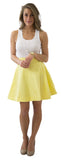 Sydney Skirt- Banana- Cotton Sateen Unlined
