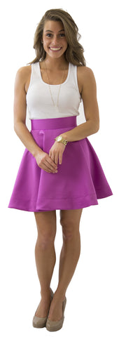 Sydney Skirt- Sangria- Poly Satin Unlined