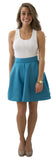 Sydney Skirt- Teal- Poly Shantung Lined