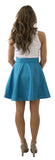 Sydney Skirt- Teal- Poly Satin Lined