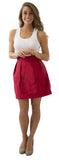 Charlotte Skirt- Red- Cotton Sateen Unlined